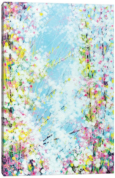 Blossom With A Soft Blue Sky Canvas Art Print