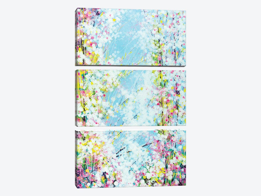 Blossom With A Soft Blue Sky by Marc Todd 3-piece Canvas Wall Art