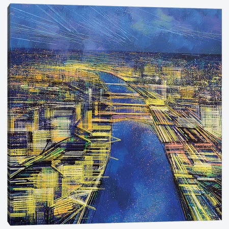 City Of Lights Canvas Print #MRC4} by Marc Todd Canvas Art