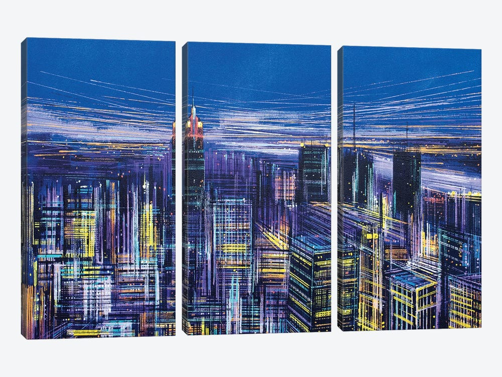 New York, New York! by Marc Todd 3-piece Canvas Wall Art