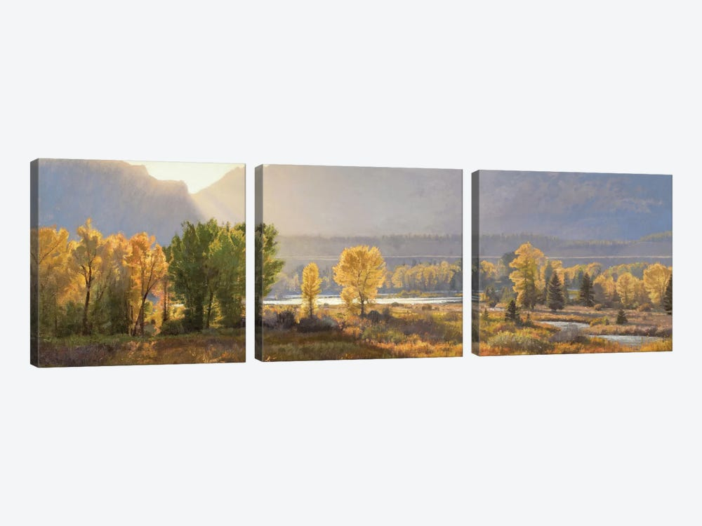 Evening Theatre by Jay Moore 3-piece Canvas Artwork