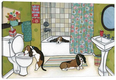 Wash Your Houndog Canvas Art Print