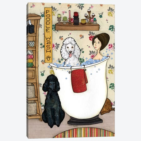 Washin Poodles Canvas Print #MRH113} by Jamie Morath Canvas Artwork