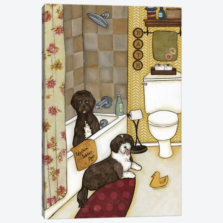 Washin Water Dogs 3-Piece Canvas #MRH114} by Jamie Morath Canvas Art Print