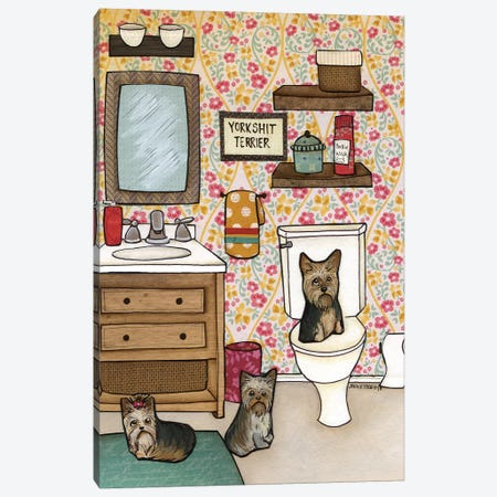 Yorkshit Terrier Canvas Print #MRH119} by Jamie Morath Canvas Art