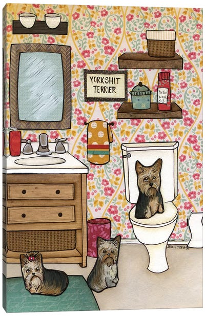 Yorkshit Terrier Canvas Art Print