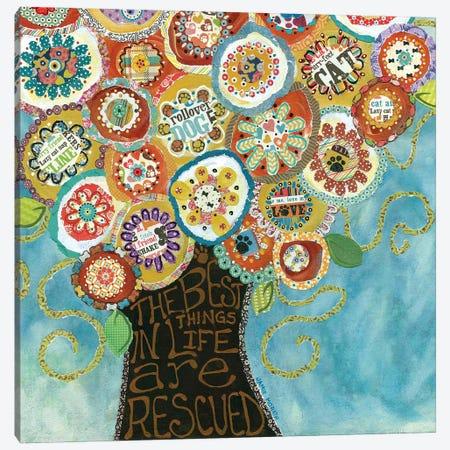 Best Things Rescued Canvas Print #MRH129} by Jamie Morath Canvas Art Print
