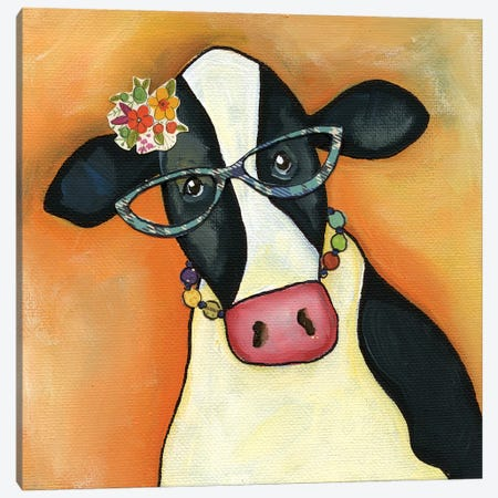 Cow Alice Canvas Print #MRH133} by Jamie Morath Canvas Wall Art