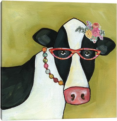 Cow Betty Canvas Art Print