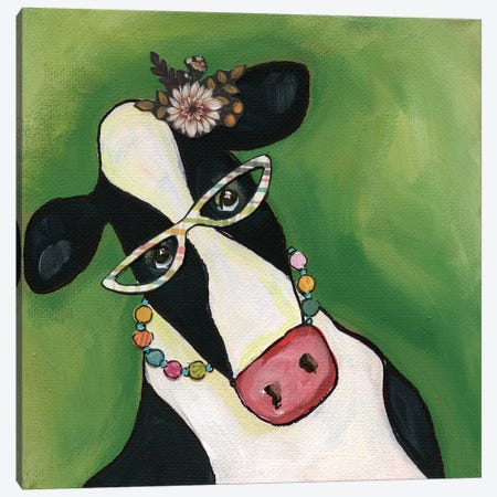 Cow Erma Canvas Print #MRH135} by Jamie Morath Canvas Print
