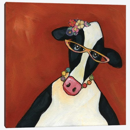 Cow Ethal Canvas Print #MRH136} by Jamie Morath Art Print
