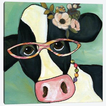 Cow Marlene 3-Piece Canvas #MRH138} by Jamie Morath Canvas Artwork