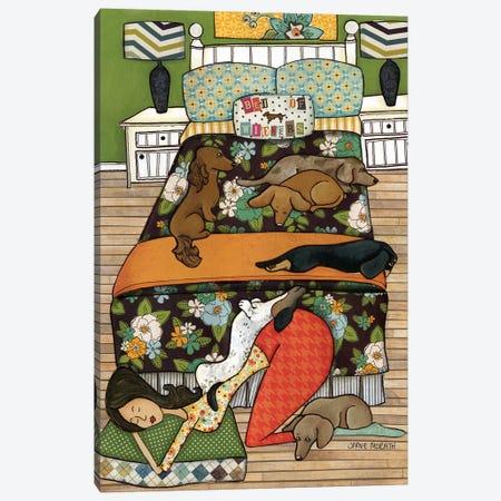 Bed of Wieners Canvas Print #MRH13} by Jamie Morath Art Print