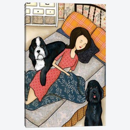 Doodle Nap Canvas Print #MRH141} by Jamie Morath Canvas Art Print