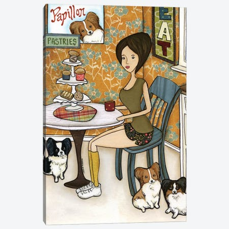 Papillon Pastries Canvas Print #MRH161} by Jamie Morath Art Print