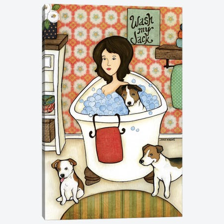 Wash My Jack Canvas Print #MRH175} by Jamie Morath Art Print