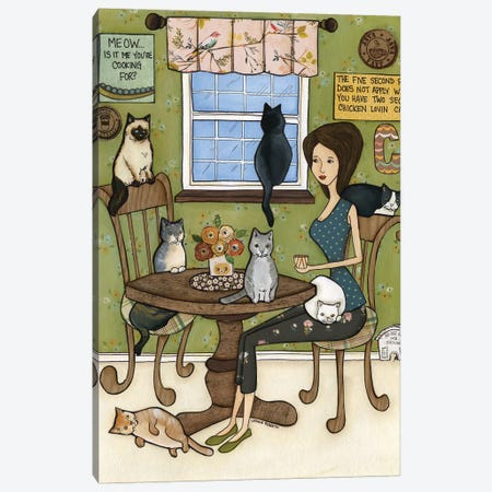 Meow Canvas Print #MRH185} by Jamie Morath Canvas Artwork
