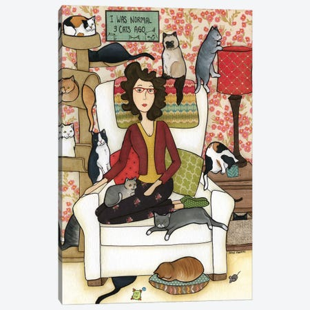 Three Cats Ago Canvas Print #MRH192} by Jamie Morath Canvas Artwork