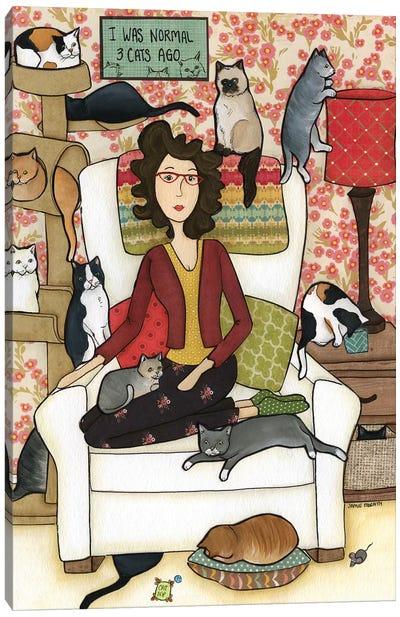 Three Cats Ago Canvas Art Print