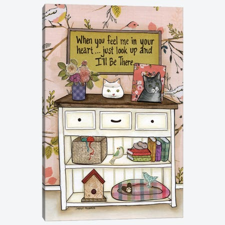 I'll Be There Cat Canvas Print #MRH193} by Jamie Morath Canvas Artwork