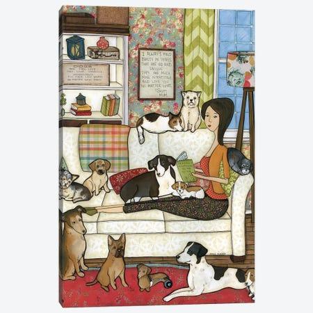 Mutt Mom Canvas Print #MRH195} by Jamie Morath Canvas Print
