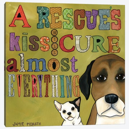 A Rescue's Kiss 3-Piece Canvas #MRH1} by Jamie Morath Canvas Artwork