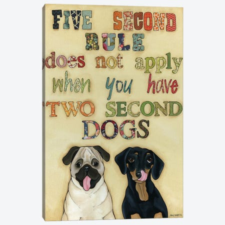 Two Second Dogs Canvas Print #MRH200} by Jamie Morath Canvas Artwork