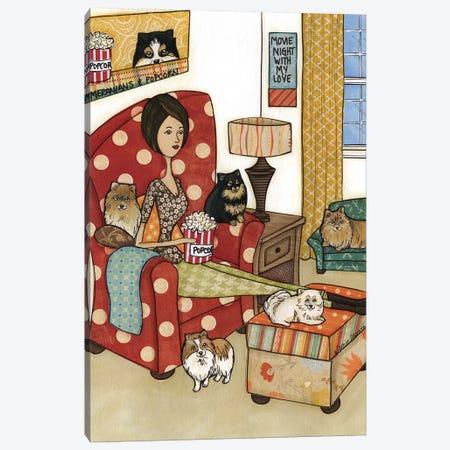 Pomeranians And Popcorn Canvas Print #MRH217} by Jamie Morath Canvas Artwork