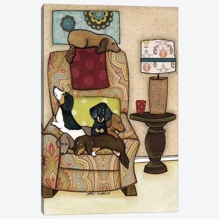 Chair Full Of Weenies Canvas Print #MRH21} by Jamie Morath Canvas Artwork