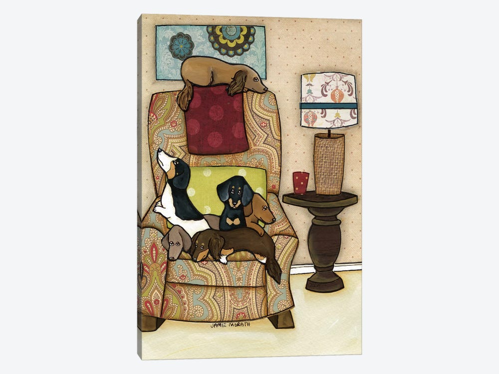 Chair Full Of Weenies 1-piece Canvas Art Print
