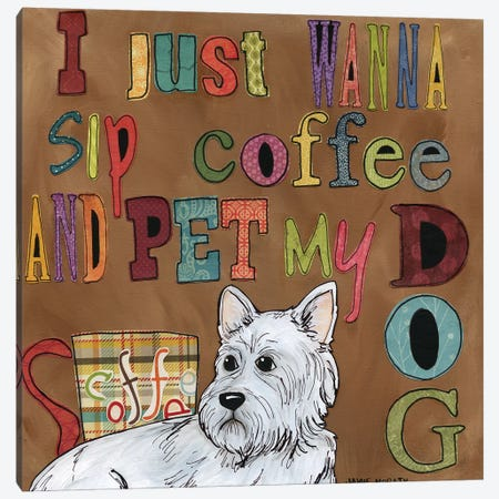 Pet My Dog Canvas Print #MRH222} by Jamie Morath Canvas Art