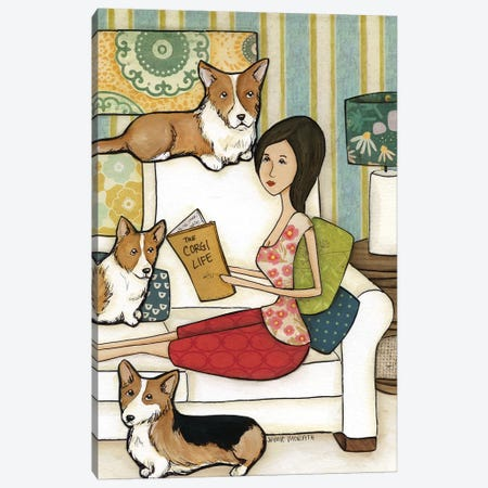The Corgi Life Canvas Print #MRH223} by Jamie Morath Canvas Artwork