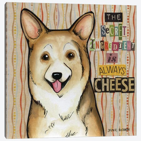 Always Cheese Canvas Print #MRH224} by Jamie Morath Art Print