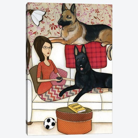 German Shedder Canvas Print #MRH229} by Jamie Morath Canvas Art