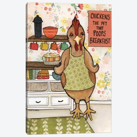 Chicken Poop Canvas Print #MRH234} by Jamie Morath Canvas Wall Art