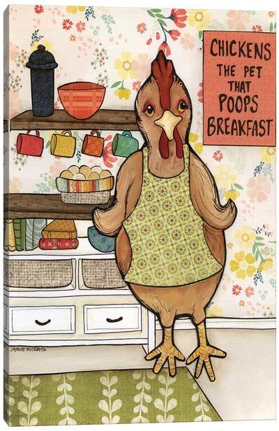 Chicken Poop Canvas Art Print