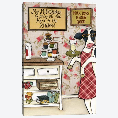 Herd To The Kitchen 3-Piece Canvas #MRH235} by Jamie Morath Canvas Art