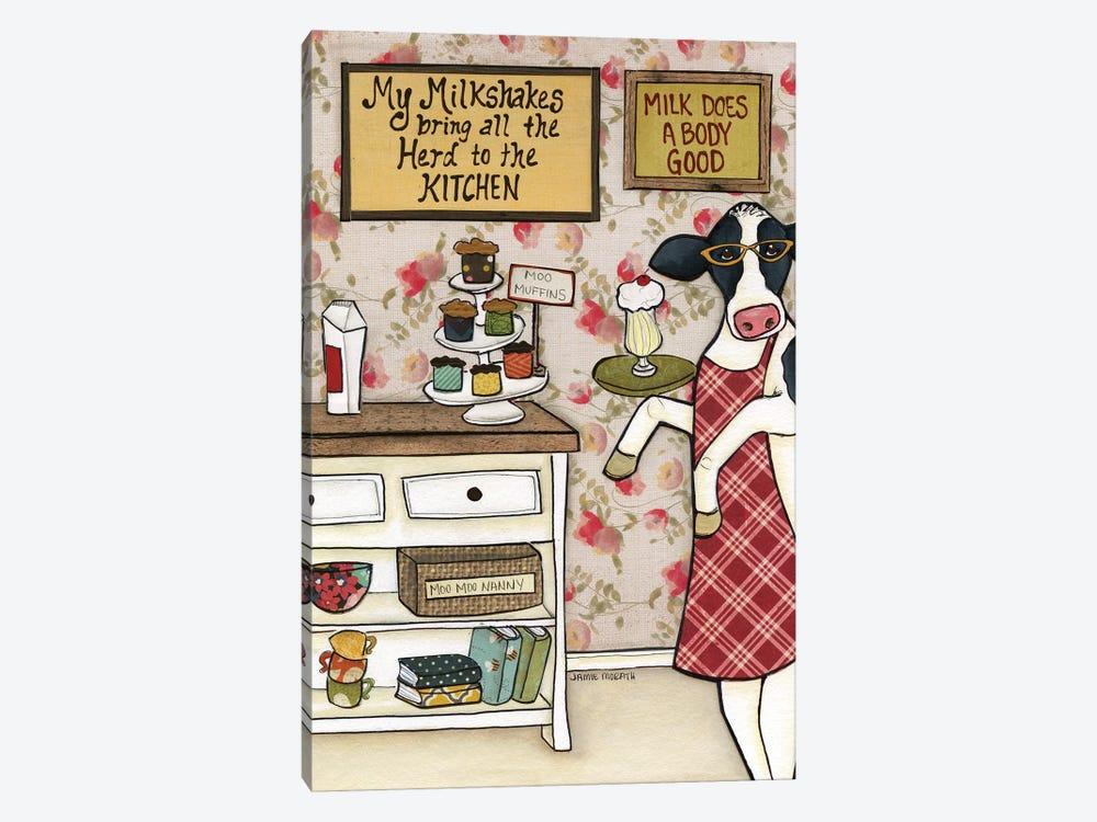 Herd To The Kitchen by Jamie Morath 1-piece Canvas Print