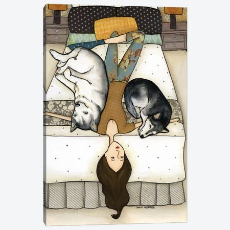 Huskies On Me Canvas Print #MRH246} by Jamie Morath Canvas Print