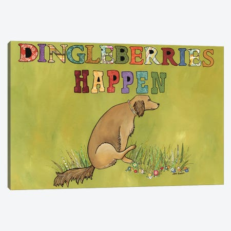 Dingleberries Happen Canvas Print #MRH249} by Jamie Morath Canvas Art