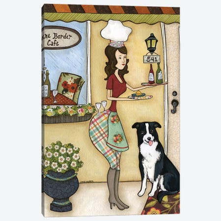 Wine Border Cafe Canvas Print #MRH254} by Jamie Morath Canvas Wall Art