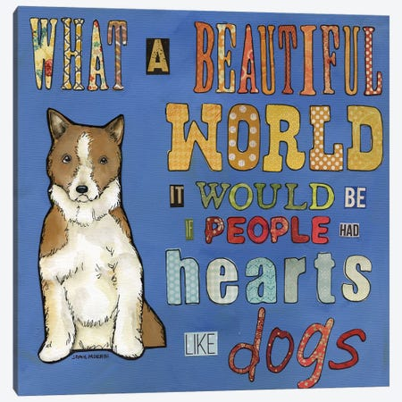 Hearts Like Dogs 3-Piece Canvas #MRH268} by Jamie Morath Canvas Artwork