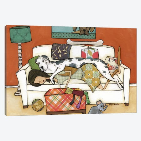 The Great Nap Canvas Print #MRH269} by Jamie Morath Canvas Artwork