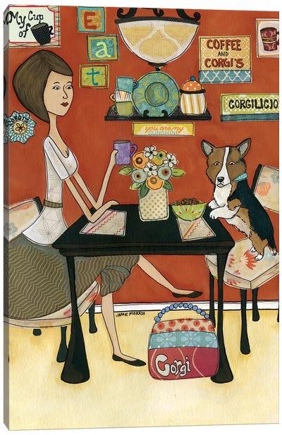 Corgiliscous Canvas Art Print