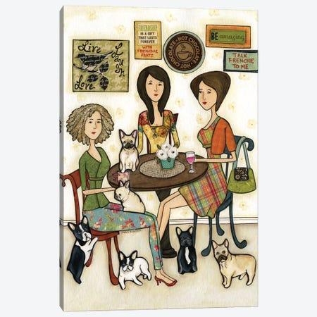 Talk Frenchie To Me Canvas Print #MRH279} by Jamie Morath Canvas Art Print