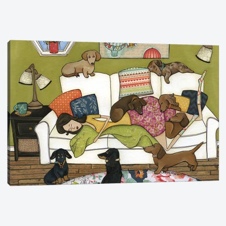 Couch Wieners Canvas Print #MRH290} by Jamie Morath Canvas Print