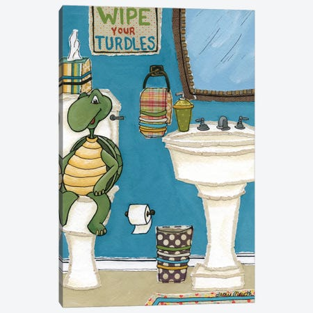 Wipe Your Turdles Canvas Print #MRH304} by Jamie Morath Canvas Artwork