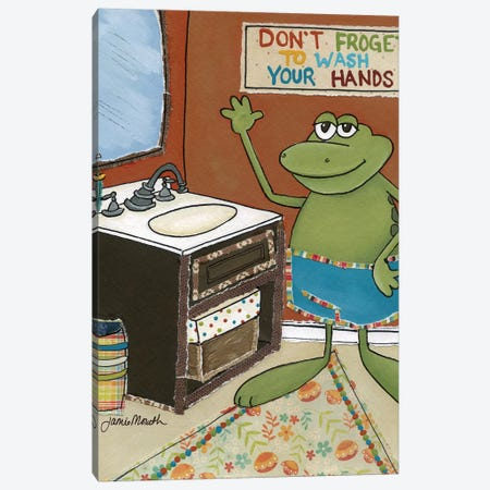 Don't Froget To Wash Canvas Print #MRH306} by Jamie Morath Canvas Art
