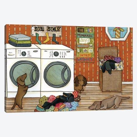 Dirtiest Weenies Canvas Print #MRH30} by Jamie Morath Canvas Art Print