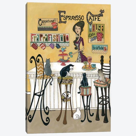 Espresso Cafe' Canvas Print #MRH310} by Jamie Morath Canvas Artwork